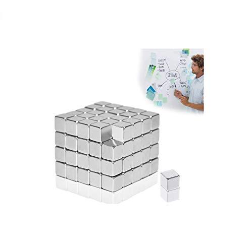 Elsatsang imán de Cubo para imanes de Vidrio, Tablero magnético, Pizarra, Pizarra, Tablero de Clavijas, refrigerador y Mucho más [100 Piezas]