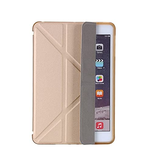 RZL Pad y Tab Fundas para iPad 2/3/4 9.7 2018/2017 5 / 6th, Ultra Thin PU Cuero Suave Cubierta Inteligente para iPad Mini 1/2/3/4/5 7.9' (Color : Gold, Talla : For iPad 2 3 4 9.7in)