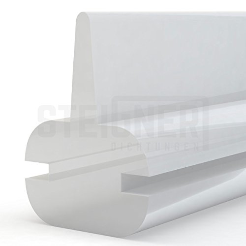 Duschdichtung Duschkabinen Dichtung 130cm SDD01 TRANSPARENT - Silikon Wasserabweiser Silikondichtung Dusche Dichtprofil Duschabtrennung Schwallschutz Glastürdichtung Duschkabine Glasduschen