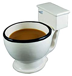 They can drink their morning joe out of this toilet and poo themed gifts.