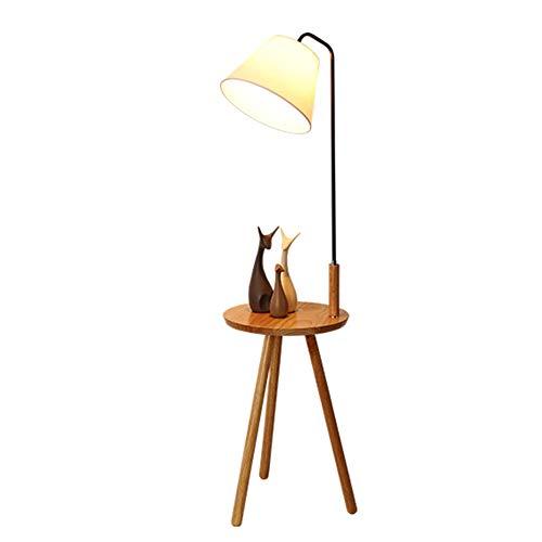 DF-GJV staande ledlamp, eenvoudige salontafel van smeedijzer, creatieve staande lamp van hout in Scandinavische landhuisstijl, woonkamerlamp met statief.