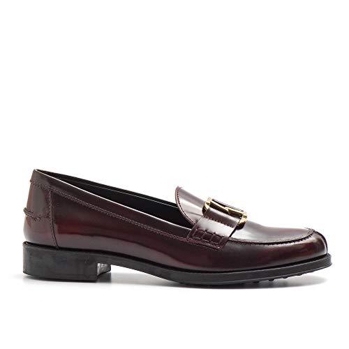 Tod's Loafer mit Zubehör Double T - XXW0RU0AI90 SHAR810 - Gr., Rot - bordeaux - Größe: 39 EU