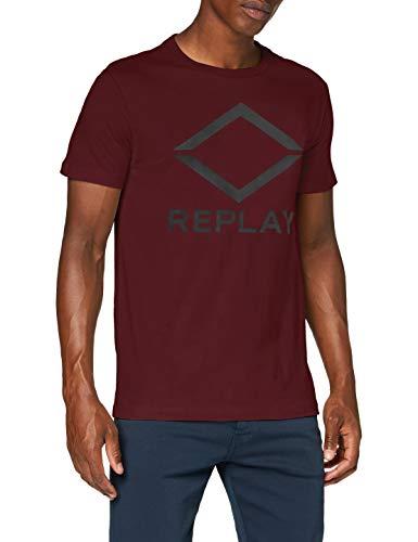 REPLAY M3197 .000.22982p Camiseta, 60 Vino Rojo, S para Hombre