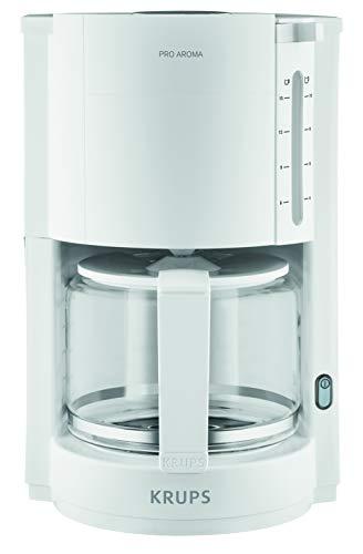 Krups F30901 Filterkaffeemaschine ProAroma | Glaskanne | Warmhaltefunktion | Automatische Abschaltung | 10 Tassen | 1.050 W | Weiß