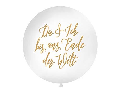 Du & Ich bis ans Ende der Welt Riesen Luftballon