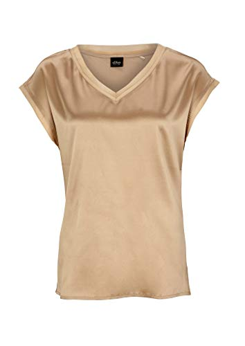 s.Oliver BLACK LABEL Damen 150.10.005.12.130.2037375 T-Shirt, Sandy Beige, 42