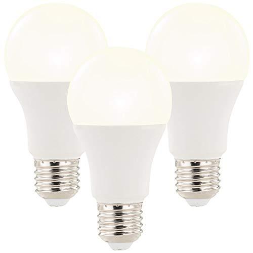 Luminea 3x LED-Lampe mit Radar-Bewegungssensor, 12 W, E27, WW, 3.000 K