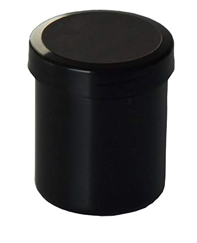 40 Salbendosen Salbendose Schwarz Tiegel 10 g 12ml Salbendöschen Dose Kunststoffdosen Schraubdeckeldosen Schraubdeckel Salbentiegel Apothekerdosen Apothekenqualität Fa.ars
