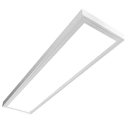 LED Panel LUNA 54W, LED Deckenleuchte, Anbau Leuchte, Prisma, (3x18W), 120cm, neutralweiß (4000K), T8, LED Rasteranbauleuchte, Deckenleuchte, Büroleuchte, Bürobeleuchtung