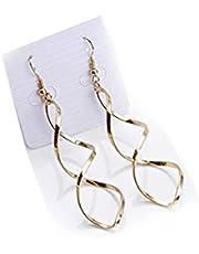 Women gold casual earring