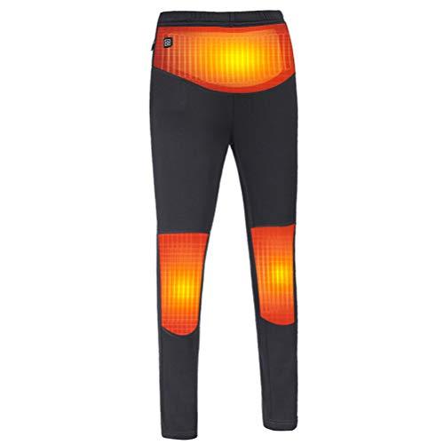 shenruifa Elektrische Beheizbare Hose für Damen, intelligente elektrische USB Heizhose mit 3 Temperaturstufen, elektrische beheizte Thermohose für den Winter Warm im Freien zum Radfahren/Camping