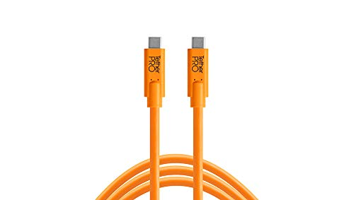 Tether Tools USB-C zu USB-C Kabel, 4,60 m, orange