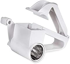 Multifunctional Portable Handheld Stainless Steel Rotary Cheese Grater Food Grade Cheese Shredder Cheese Butter Slicers Nut Garlic Grinder Kitchen Accessories (Color : Silver)