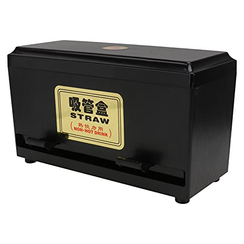 Cabilock Dispensador de Paja Sostenedor de Paja Organizador Prensa Palillos Maceta Lápices Caja de Almacenamiento para Pajita Extra Larga