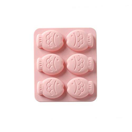 Siliconen vormen met 6 holtes, bakplaat mal hittebestendige siliconen mal voor koekjes, koekjes, zakken, muffins, chocolade, zeep maken