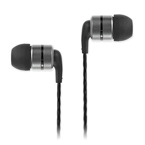 SoundMAGIC E80 Auriculares In Ear, Auriculares para teléfonos Inteligentes con Cable,Auriculares Estéreo con Aislamiento de Ruido para, Todos los Dispositivo de Interfaz de 3,5mm,Gunmetal