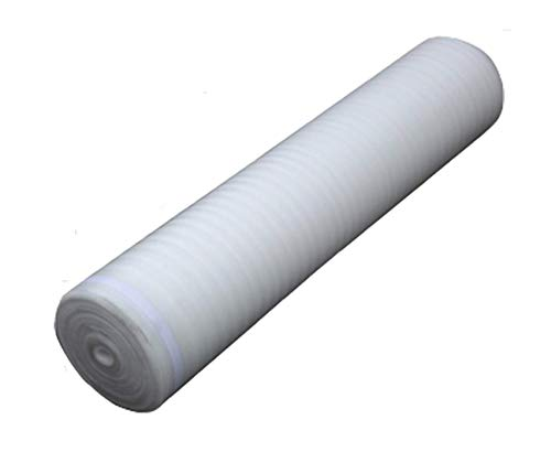 AMERIQUE AMWH3MM1R White 200SQFT 4/32' 3mm Thick Foam 3-in-1 Heavy Duty Flooring Underlayment Padding with Tape (1 ROLL / 200 SQFT), Square Feet