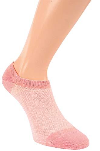 by Riese 6 Paar Bambus Sneaker Socken Füsslinge In Shoe Socken Damen (39-42)
