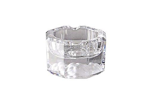 Rosenthal - Medusa Lumiere - Ascher, Aschenbecher - Kristallglas mit Mudusenhaupt im Fuß - Durchmesser: 8 cm