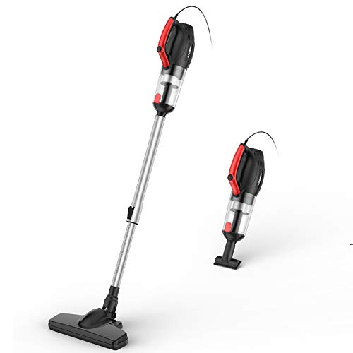 500W Cyclone Vacuum Cleaner, 4-in-1 Stick Vacuum with Extension Wand, Handheld Vacuum with HEPA...