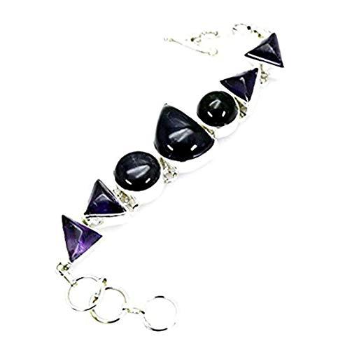 Riyo amatista bebé brazalete joyas de plata pulsera de l 7.5in sbraame-2006