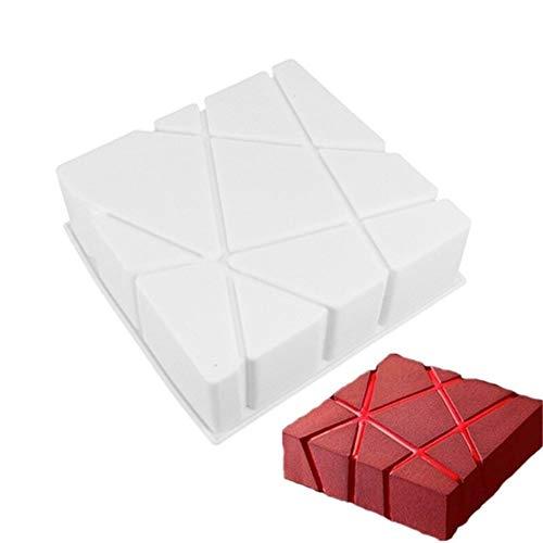 Wit Siliconen Geometric Cube Squared Brownie chiffon Cake Matrijzen Cake van de Mousse schimmel bakken Dessert DIY bakvormen Maker Cakes Gereedschap