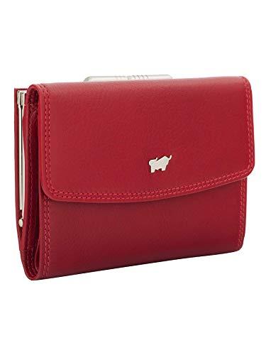 BRAUN BÜFFEL Damen Bügelbörse Golf 2.0 aus echtem Leder - 8 Fächer - rot