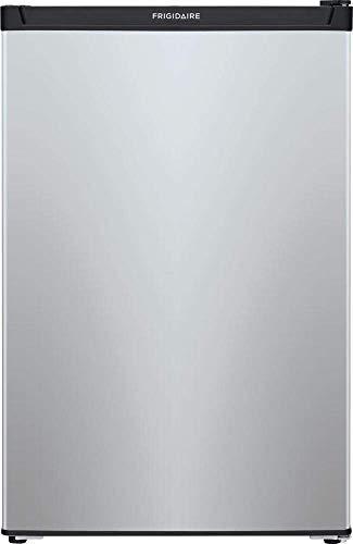 Frigidaire FFPE4533UM 4.5 Cubic Foot Freestanding Compact Indoor Mini Refrigerator, Silver (Renewed)