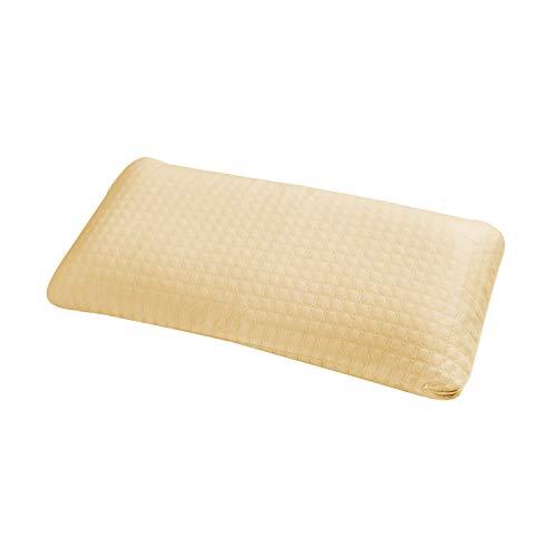 ABAKUHAUS Aufblasbarer Reisekissen aus Baumwolle garantiert Reisen mit dem Flugzeug 40 X 80 cm, Gelb