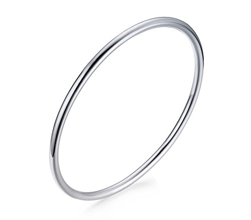 VNOX 3mm Edelstahl überzogenes dünnes einfaches Armband hohes poliertes Haube Form Silber