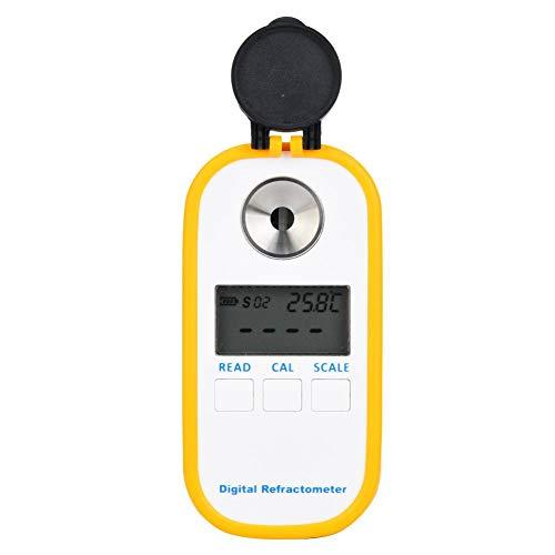 Nannday Bierrefraktometer, digitales Refraktometer Bierhydrometer, 0~50% / 1~1.130sg IP65 Wasserdicht für Unterrichtsmaterialien Haushalt