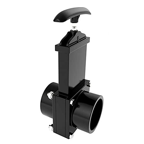 QOTSTEOS Abflussventil für LKW-Abflussrohre, 50 mm Abfluss (schwarz)