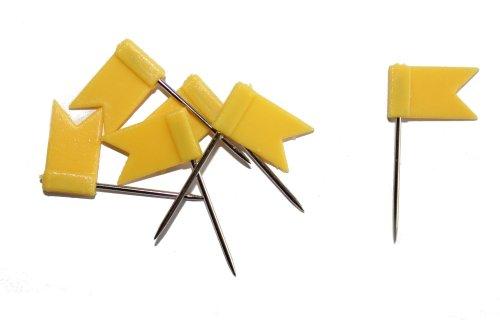 dalipo 31015 - Markiernadeln, Fahne, 100 Stück, gelb