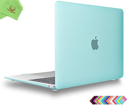 UESWILL Smooth Matte Hard Shell Case Cover for 2018 2019 2020 MacBook Air 13 inch Retina Display & Touch ID & USB-C Model A2179 A1932, Green