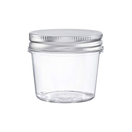 Darice Plastic Jars With Lids: 4 Ounces, 10 Pack, Clear