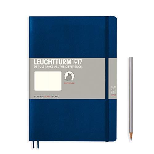 LEUCHTTURM1917 349299 Notizbuch Composition (B5), Softcover, 123 nummerierte Seiten, blanko, Marine