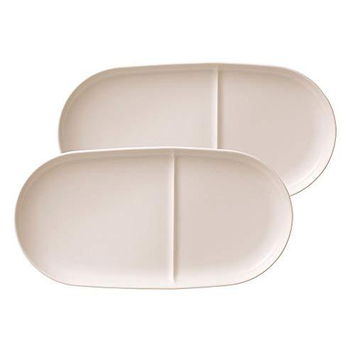 Villeroy & Boch - Soup Passion Keramiktablett-Set, 2 tlg., 33 x 16 cm, Premium Porzellan, spülmaschinen-, mikrowellengeeignet, weiß