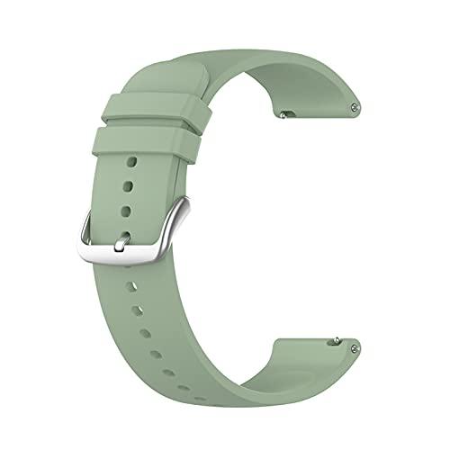 PAZHOU Correa for Samsung Galaxy Watch 4 Classic 3 SmartWatch Watch Band 20mm Watch Strap for Galaxy Watch 4 Classic 42mm 46mm 40mm 44mm (Band Color : Lake Green, Size : Galaxy Watch4 44mm)