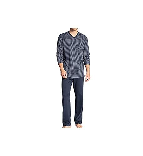 CALIDA Herren Relax Streamline Zweiteiliger Schlafanzug, Dark Sapphire, 56