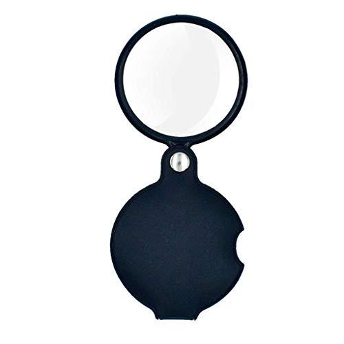Handheld 10X Magnifier vergrootglas - LED Lights HD Lens Jewelry Review Guarda DIY gravure en reparatie vouwlens zwart ABS lens persoonlijke multifunctionele vergrootglas