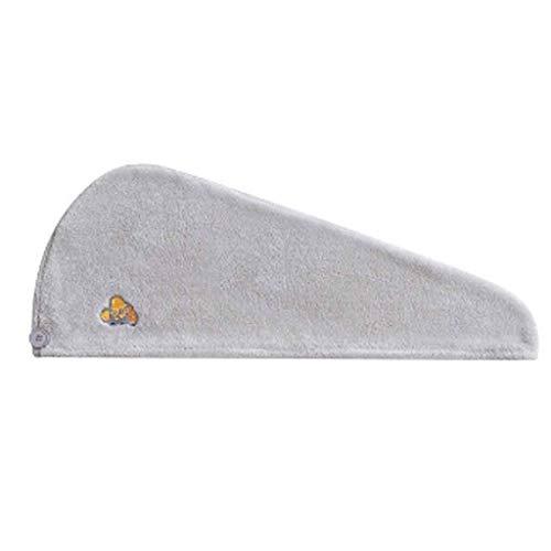 XYZMDJ Gorro de Ducha de Secado rápido Gorro de Pelo seco Mujer súper Absorbente y de Secado rápido Toalla Gruesa para el Cabello Producto de baño (Color : Gray)
