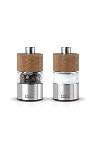 AdHoc Set Pfeffer- Und Salzmühle David, Ceramic Mahlwerk Ceracut®, Edelstahl/Akazienholz/Acryl, D: 3,2 cm, H: 6,2 cm [W]