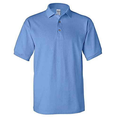 Gildan - Polo de manga corta para hombre/Caballero Modelo Pique - 100% algodón calidad de primera (Mediana (M)/Azul carolina)