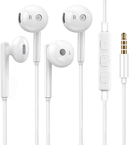 Heren 3.5mm in-Ear Wired Noise Cancellation Earbuds/Earphones/Headphones with Remote Micphone Compatible with iPhone 6 Plus 5 4/Samsung/Android -02