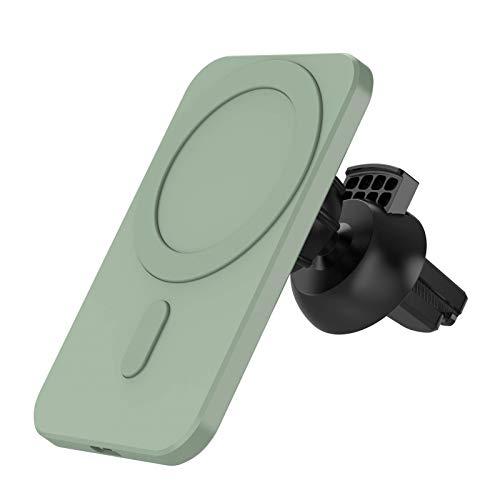 spier Cargador de coche inalámbrico magnético para ventilación de teléfono compatible con iPhone 12/12 Pro/12 Mini/12 Pro Max