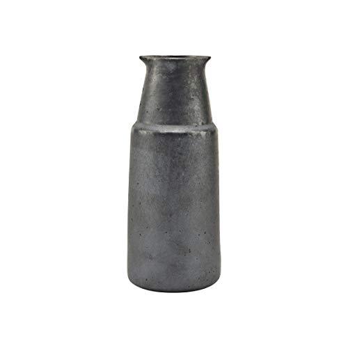 House Doctor, Flasche, Pion, Schwarz/Braun, Porzellan, h: 18 cm, Dia: 7.5 cm
