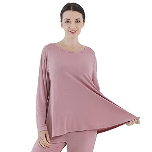 MLOPPTE Pijama,Tops de Dormir de una Pieza para Mujer, Ropa de Dormir Informal de Talla Grande, Camisa de Fondo, Ropa de do
