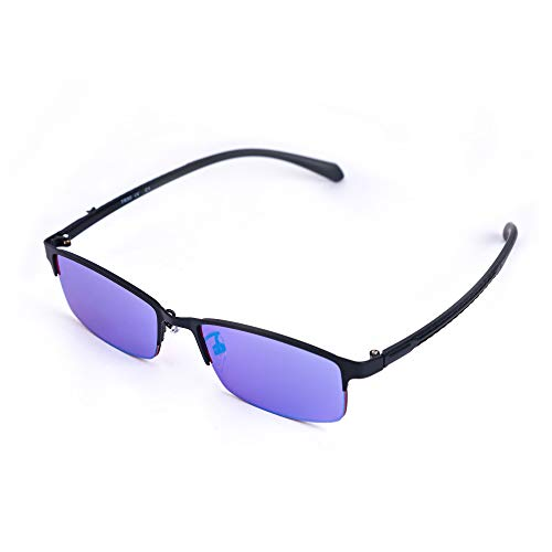 Farbenblind Brille Blau, Grün, Lila Farbenblindheit Korrekturbrillen für Männer und Frauen,Halfframe