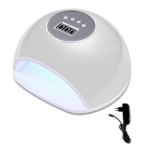Lámpara de uñas LED/UV de 72 W con 4 ajustes de temporizador, secador de uñas para uñas de gel y uñas de los dedos, con sensor inteligente que cubra ZHQHJD