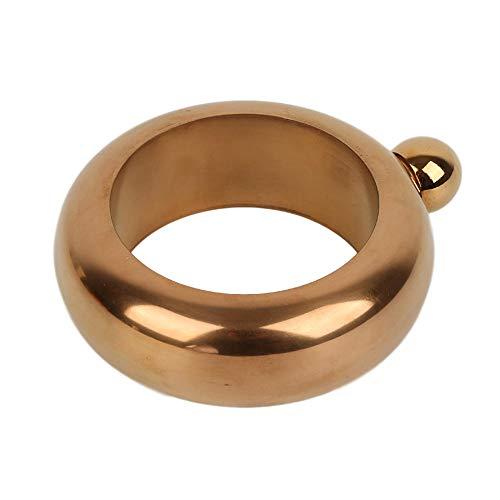 X&L Bracelet pichet Boucle de Hanche Portable Flacon Rond pour Alcool Bracelet Bijoux Bijoux Alcool Bottle Cadeau 3.5oz pour Femme-Or Rose b